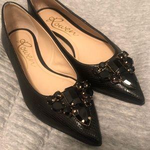 EUC⭐️ Rowen Black Embellished Flats